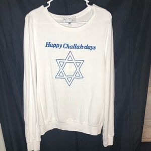 Wildfox Happy Challah-days BBJ Pullover NWT